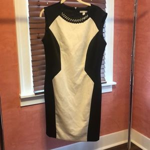 Black and White Business/Formal Bodycon Dress
